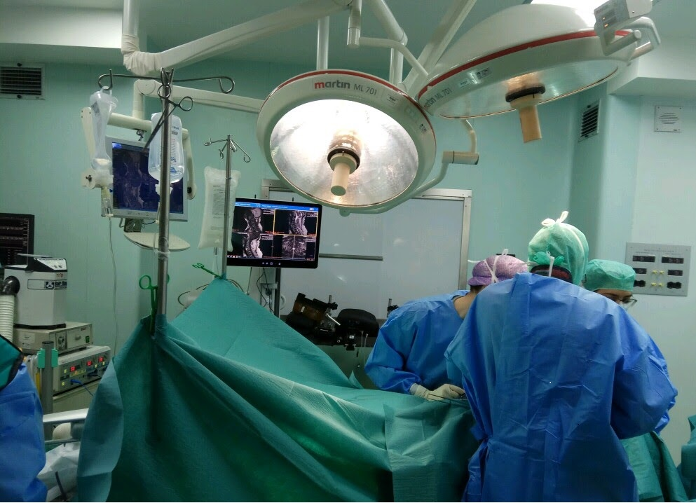 ADORA Assistant™ performing spinal surgery in Galeazzi Clinic